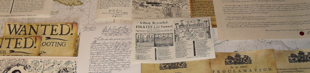 Pirate Wanted Poster 1600 Letters of Marque Replica Props – Wanted Poster Letters