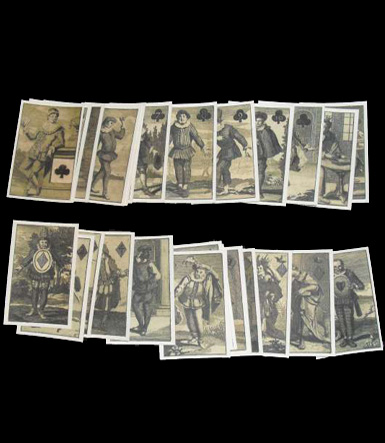 Burlesque Theatre Playing Cards 1700