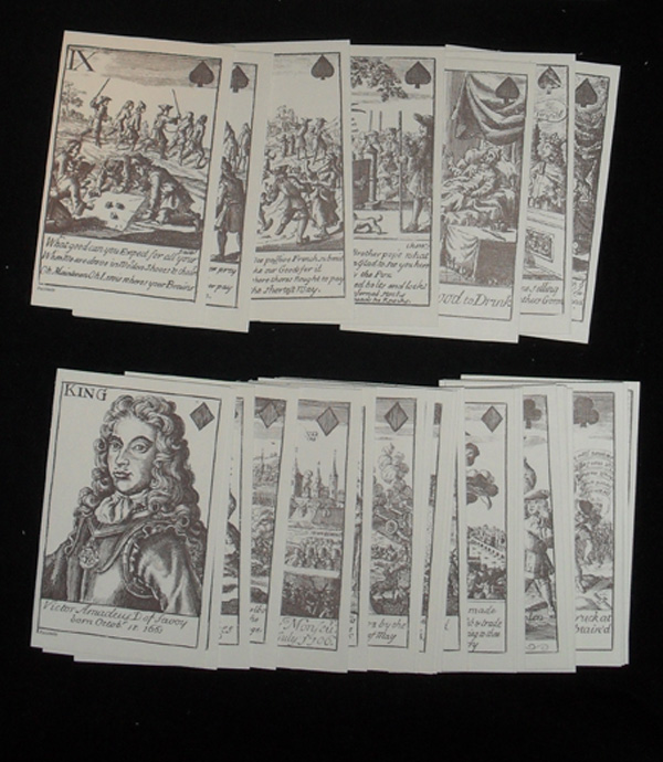 Marlborough's Victories Playing Cards 1707