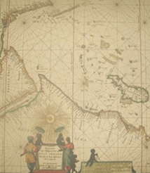 Replica 1666 Dutch Seachart of the East African coast