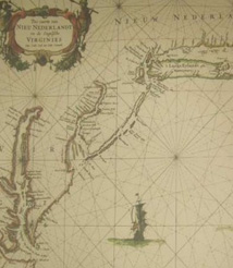 Replica 1666 Dutch Seachart of the Atlantic coast of America
