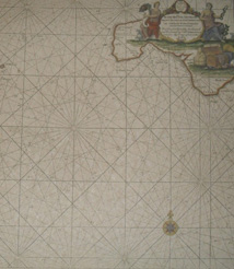 Replica 1693 English chart showing Southern Cornwall
