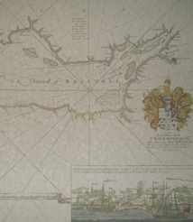 Replica 1693 English chart of the Bristol Channel