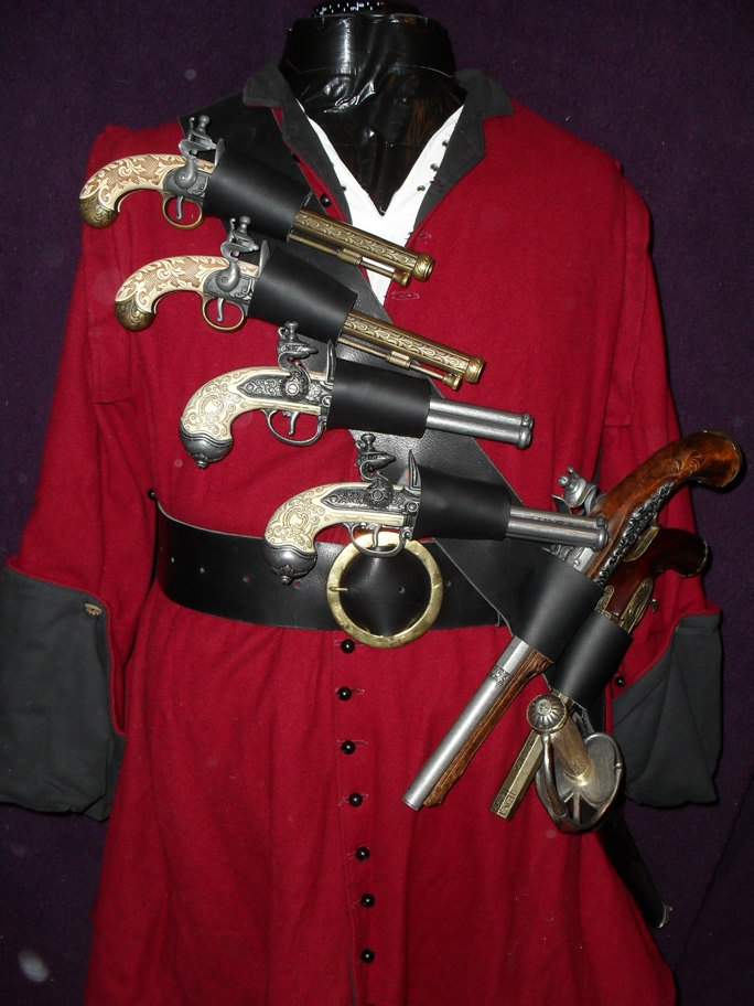 Blackbeard six pistol sword baldric