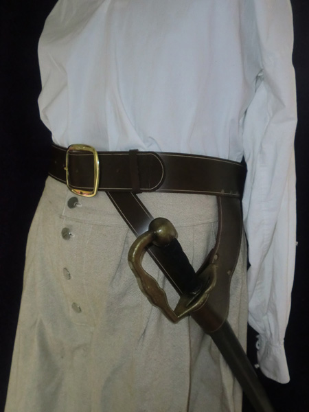 Blackbeard sword belt
