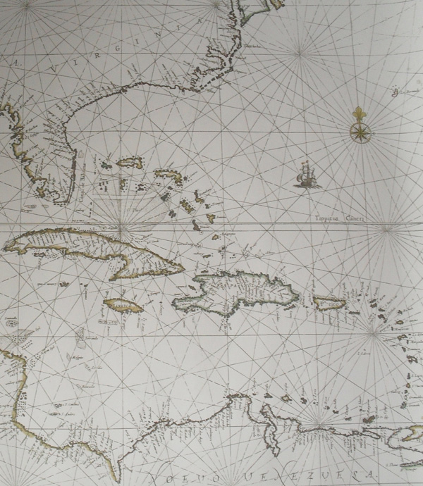 1659 Dutch chart of the Caribbean