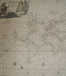 Replica 1697 Dutch chart of the known world