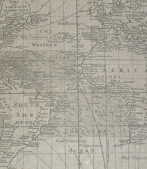 Replica 1705 English sea chart of the whole world
