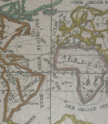 Replica 1716 German World map