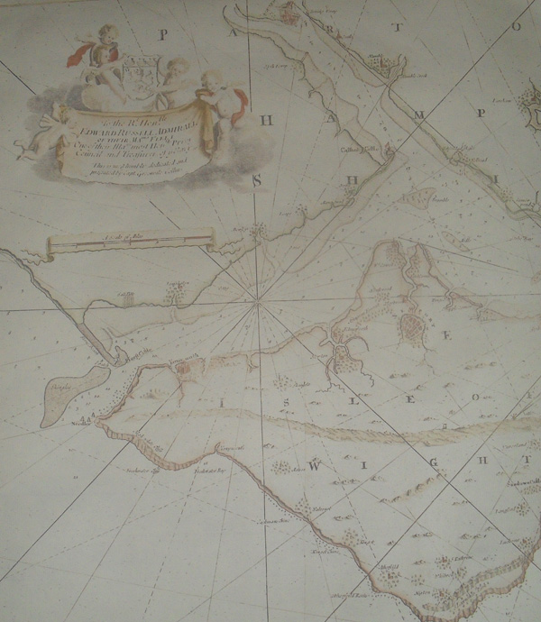 1693 English Chart of the Solent