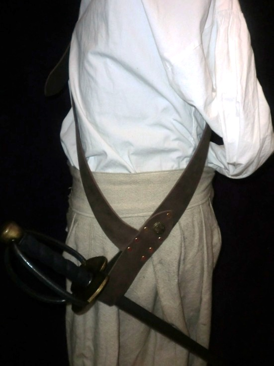 The Basic Buccaneer sword baldric - Click Image to Close