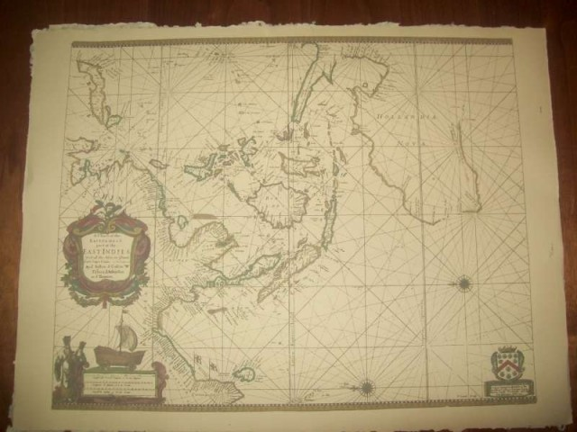 Replica 1690 English Seachart of the eastermost East Indies - Click Image to Close
